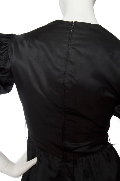 70s Oscar de la Renta Silk Satin Cocktail Dress For Sale 1