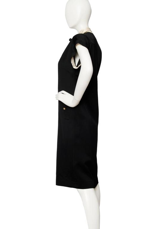 Beige 1980s Chanel Silk & Wool Cocktail Dress For Sale