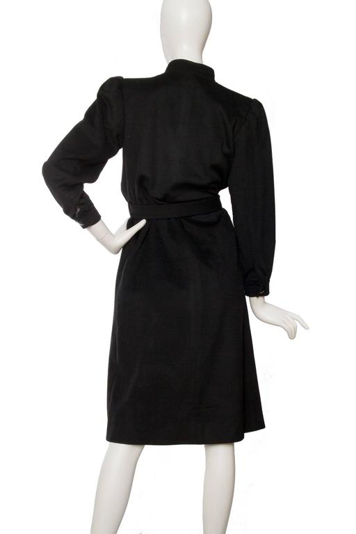 1980s Yves Saint Laurent Black & White Wool Coat 6
