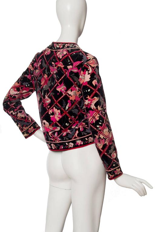 Pink 1960s Emilio Pucci Printed Cotton Jacket  For Sale