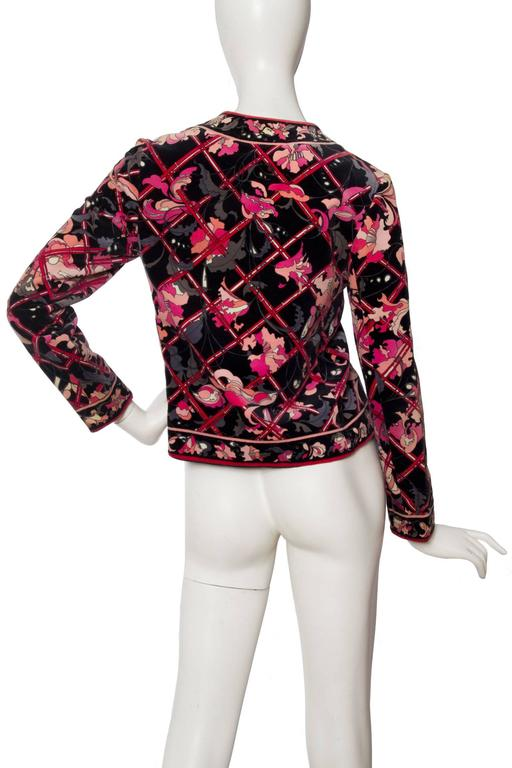 1960s Emilio Pucci Printed Cotton Jacket  For Sale 1