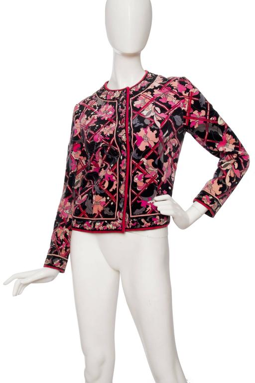 Women's 1960s Emilio Pucci Printed Cotton Jacket  For Sale