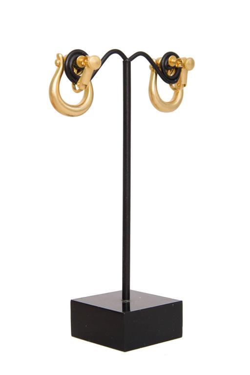 1990s Moschino Logo Earrings  6