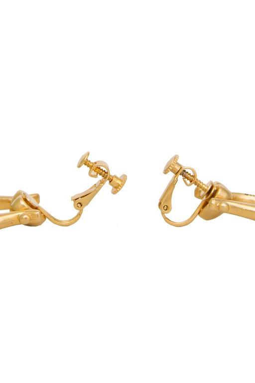 1990s Moschino Logo Earrings  7