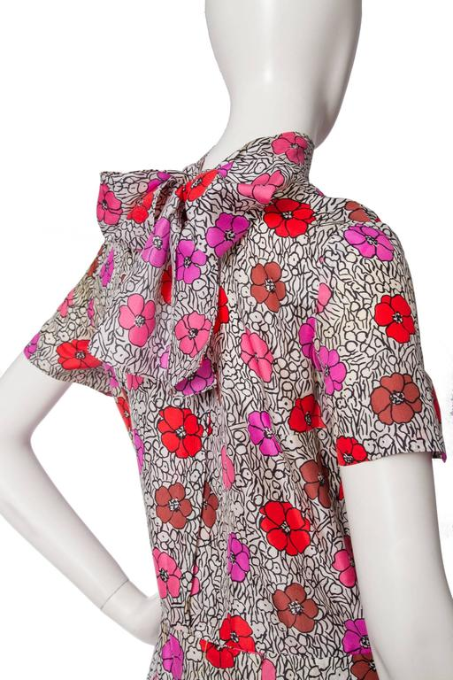 1960s Floral Chanel Haute Couture Dress 7
