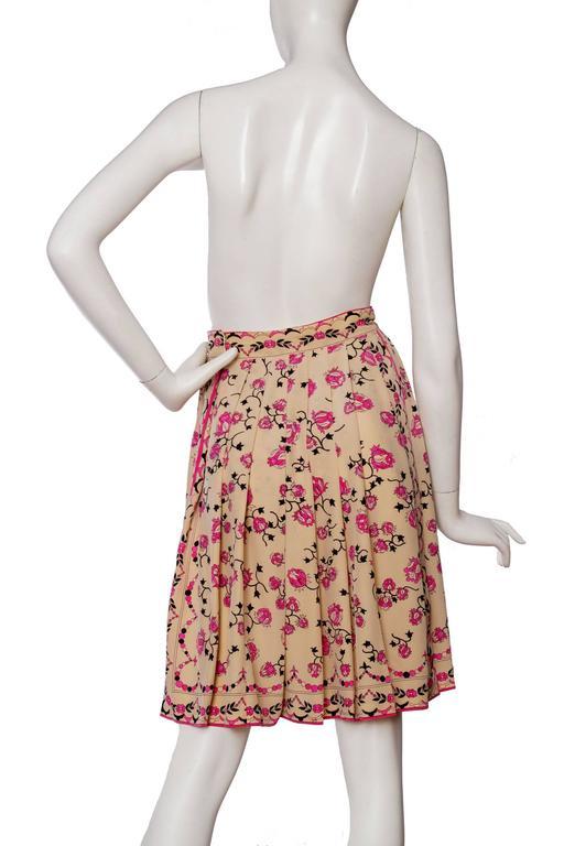 1960s Emilio Pucci Floral Print Silk Skirt 5