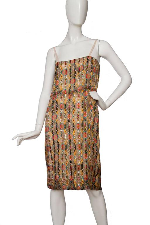 60s chanel haute couture silk paisley dress for sale at