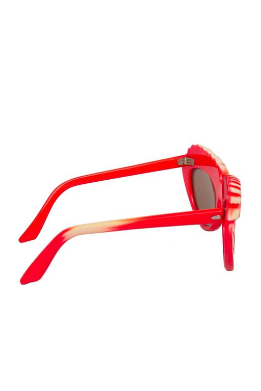 A Pair of 1980s Red Isabel Canovas Sunglasses 2