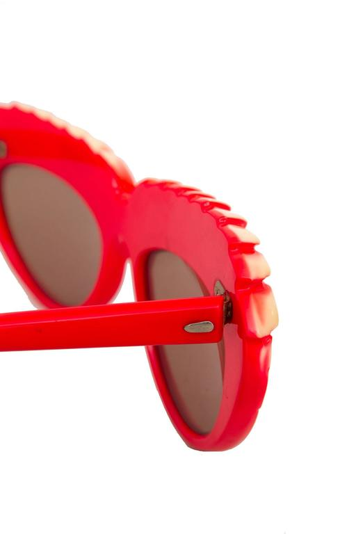 A Pair of 1980s Red Isabel Canovas Sunglasses 6