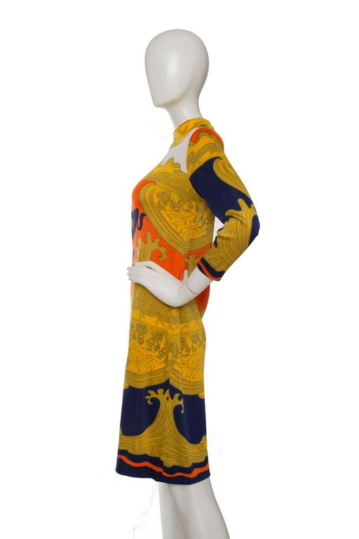 1970s Lanvin Printed Summer Dress In Good Condition For Sale In Copenhagen, DK