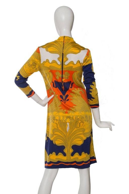1970s Lanvin Printed Summer Dress For Sale 1