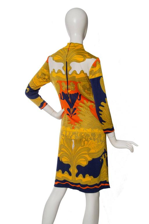 Women's or Men's 1970s Lanvin Printed Summer Dress For Sale