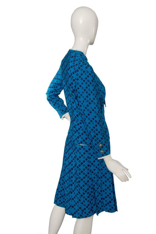 1960s chanel haute couture silk skirt suit at 1stdibs for Haute couture suits