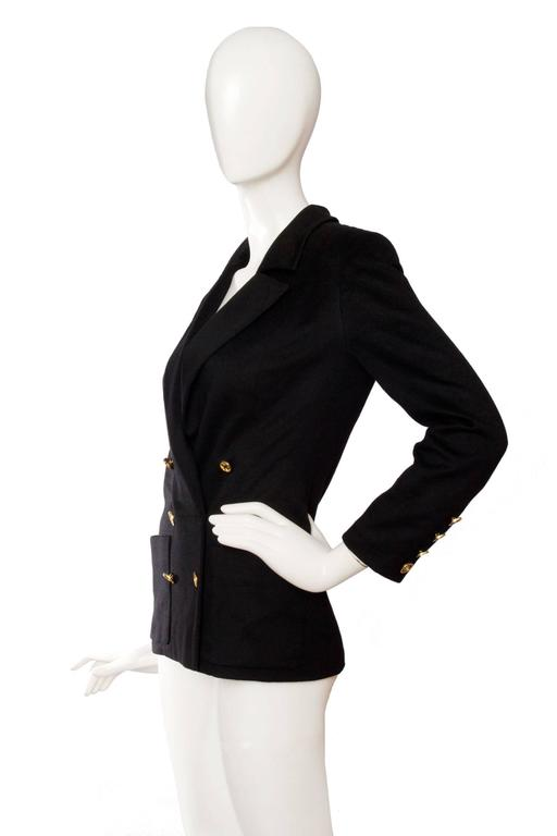 1990s Chanel Black Cashmere Blazer In Good Condition For Sale In Copenhagen, DK