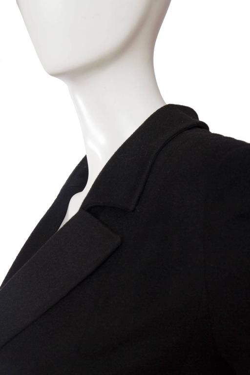 1990s Chanel Black Cashmere Blazer For Sale 2