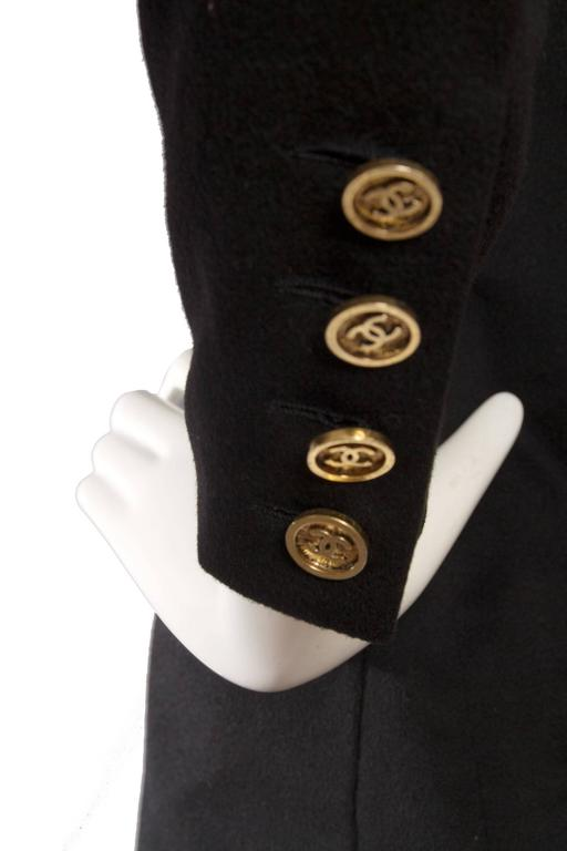 1990s Chanel Black Cashmere Blazer For Sale 4