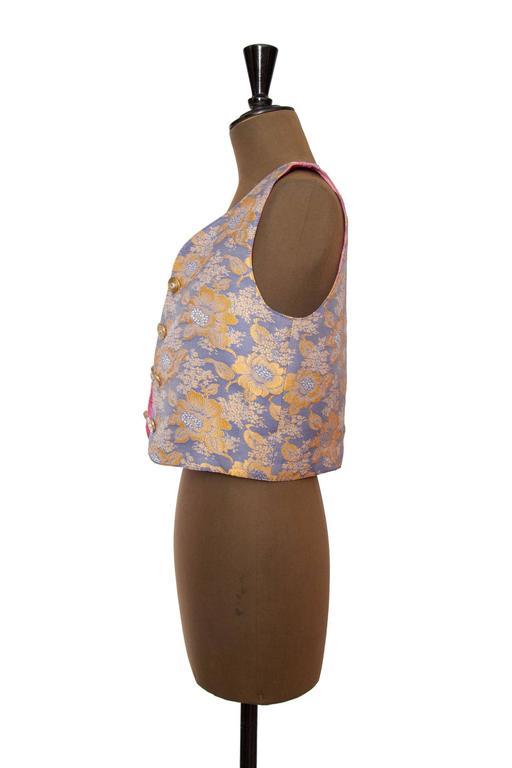 1980s Yves Saint Laurent Silk Vest  3