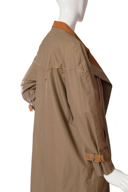 1980s Claude Montana Trench Coat For Sale 1