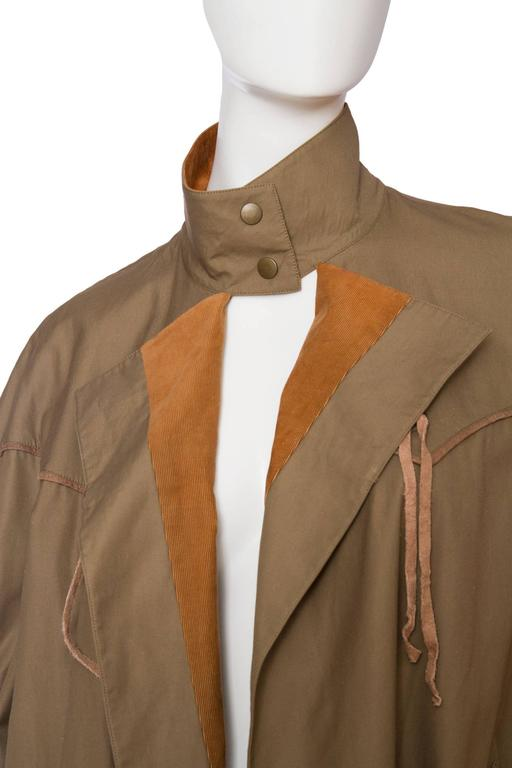 Women's 1980s Claude Montana Trench Coat For Sale