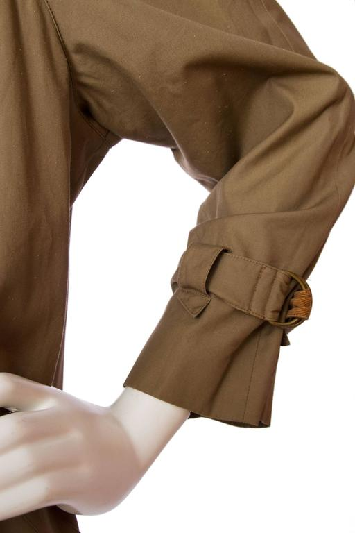 1980s Claude Montana Trench Coat For Sale 2