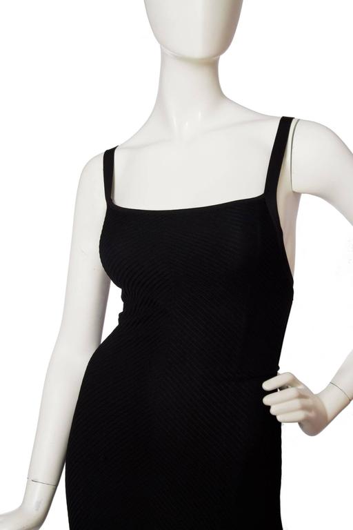 1990s Herve Leger Black Evening Gown  4
