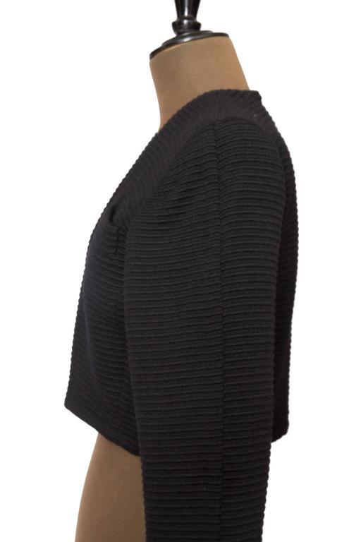80s Yves Saint Laurent Rive Gauche Black Bolero Jacket  For Sale 4