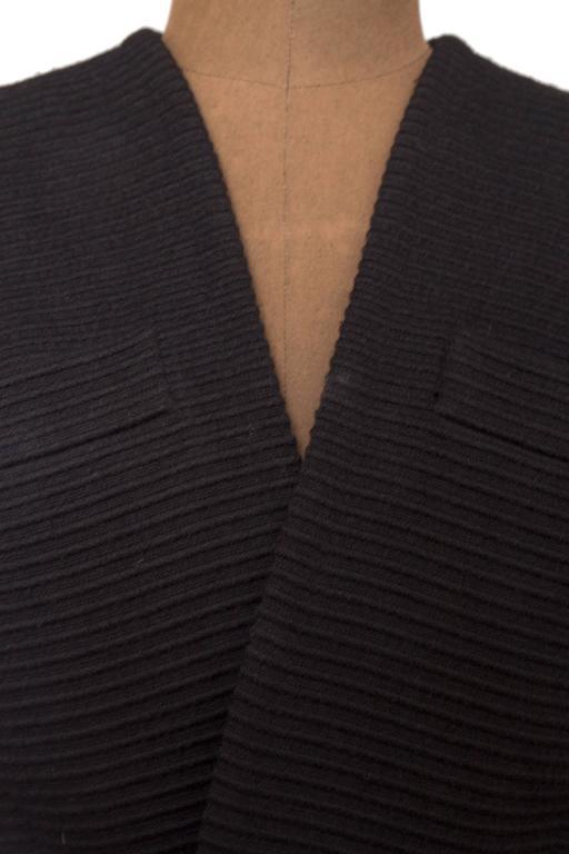 80s Yves Saint Laurent Rive Gauche Black Bolero Jacket  For Sale 5