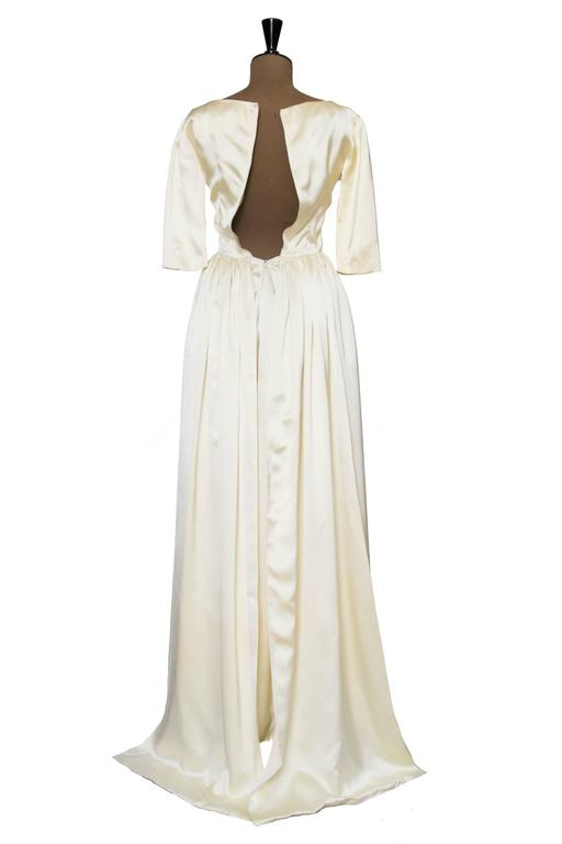 1960 Maggy Rouff Silk Wedding Gown W. Bows 5