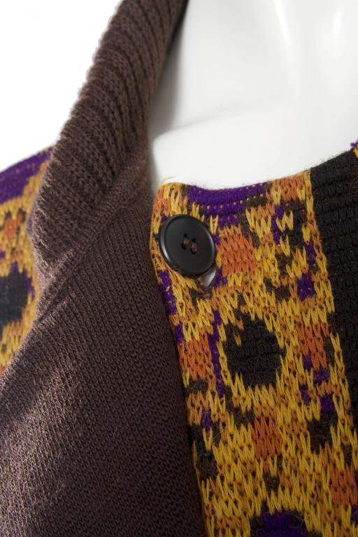 1980s Yves Saint Laurent Wool Cardigan For Sale 3