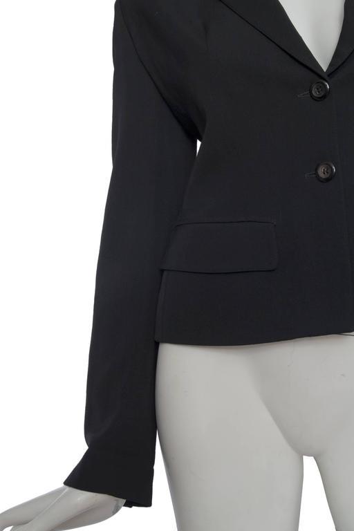 A Classic 90s Black Cropped Alaia Blazer For Sale 3