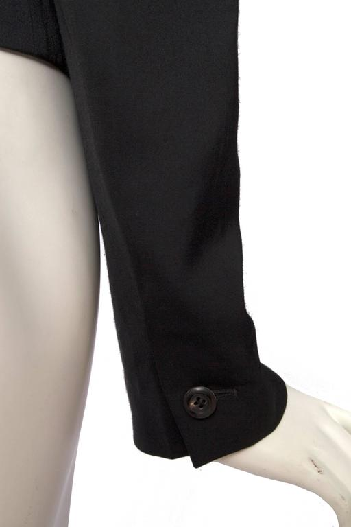A Classic 90s Black Cropped Alaia Blazer For Sale 4
