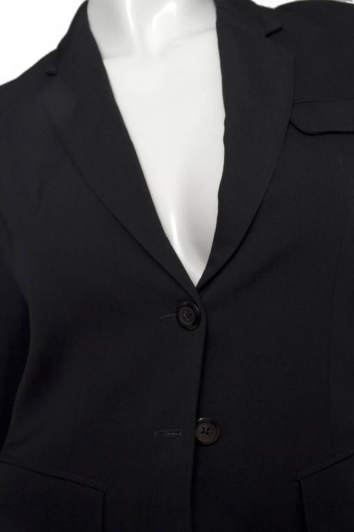 A Classic 90s Black Cropped Alaia Blazer For Sale 5