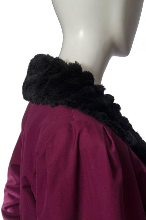 70s Yves saint Laurent Rive Gauche Purple with Fur Lining. 6