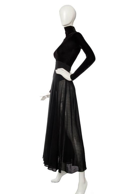 A 1990s Donna Karan Black Velvet Evening Gown  3