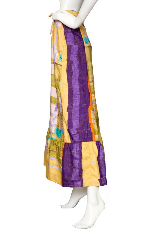 A Colorful 1990s Christian Lacroix Silk Peasent Skirt 5