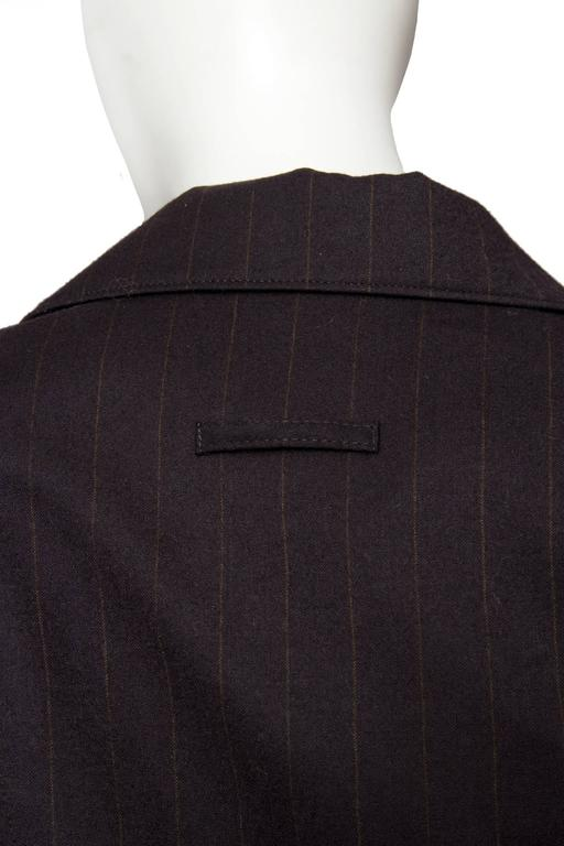A 1990s Jean Paul Gaultier Brown Wool Pinstriped Blazer 8