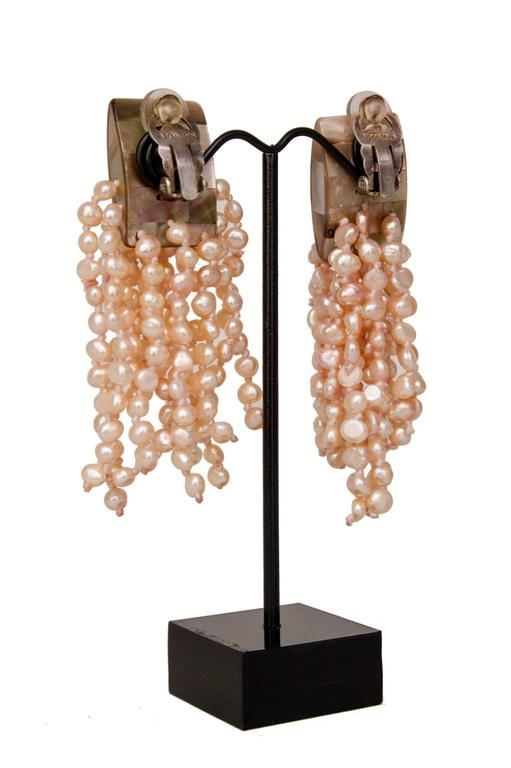 A Pair of 1980s Monies Pale-Pink Mother-of-Pearl Clip-On Earrings 4