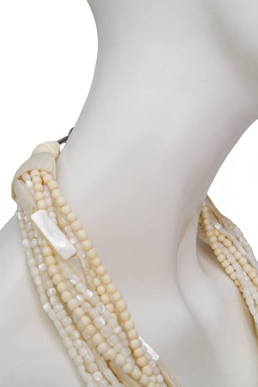 A Gerda Lyngaard for Monies Mother-of-Pearl Multi-Strand Necklace 4