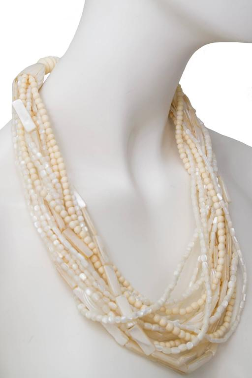 A Gerda Lyngaard for Monies Mother-of-Pearl Multi-Strand Necklace 3