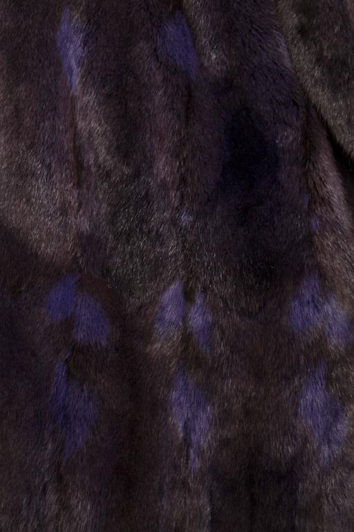 Women's A 1980s Celine Dyed Mink Fur Coat For Sale