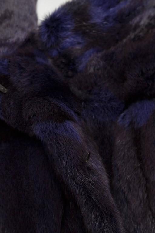 A 1980s Celine Dyed Mink Fur Coat For Sale 1