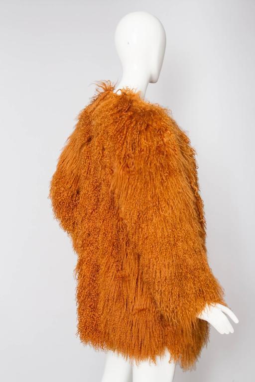 Iconic documented Yves Saint Laurent Mongolian Lamb Fur Coat 3