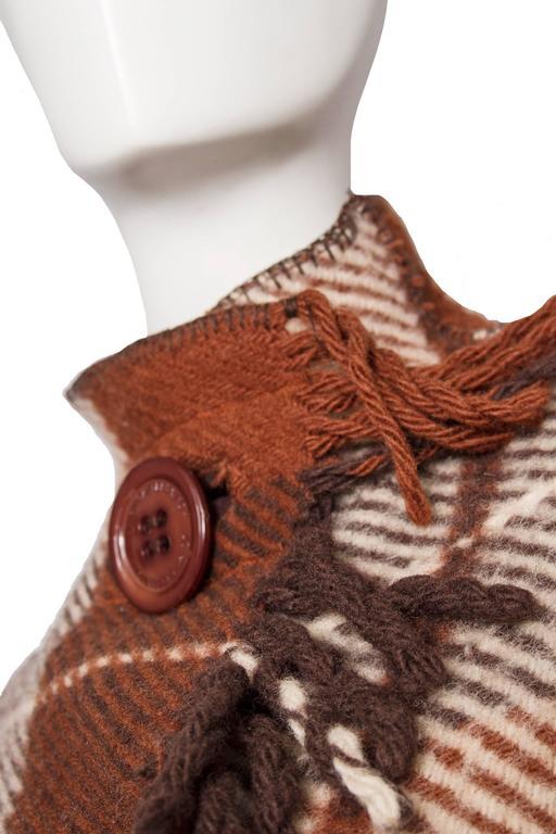 Women's A 90 Tartan Jean-Charles de Castelbajac Wool Jacket For Sale