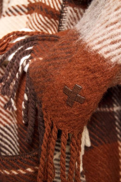 A 90 Tartan Jean-Charles de Castelbajac Wool Jacket For Sale 1