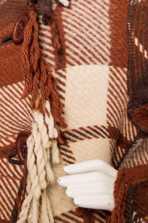 A 90 Tartan Jean-Charles de Castelbajac Wool Jacket For Sale 3