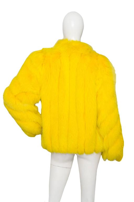 A 1980s Bright Yellow Dyed Saga Furs Fox Coat 3