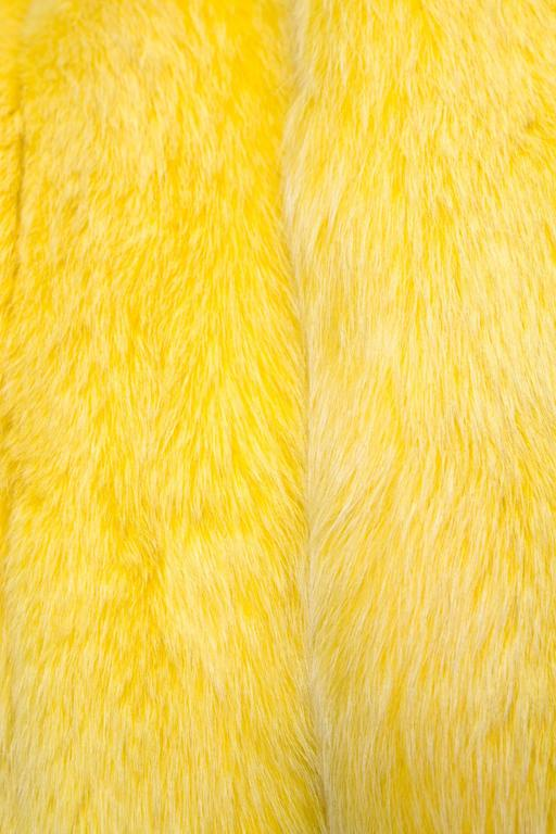 A 1980s Bright Yellow Dyed Saga Furs Fox Coat 5