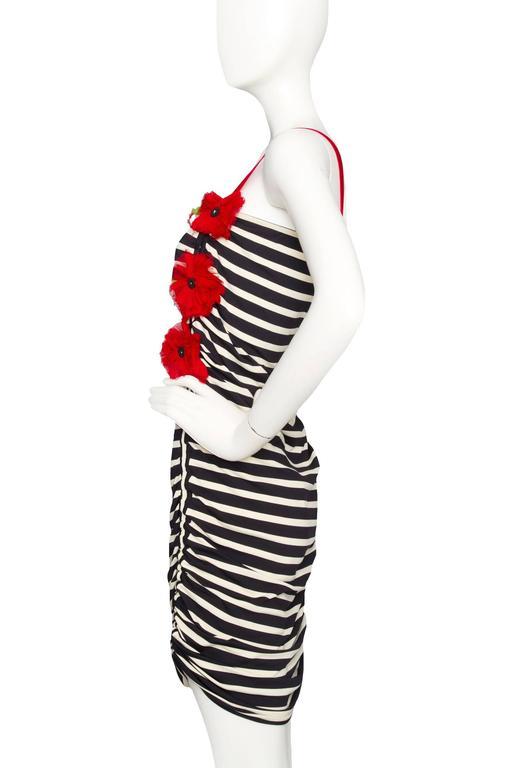 1990s Jean Paul Gaultier Sailor Stripe Dress   2