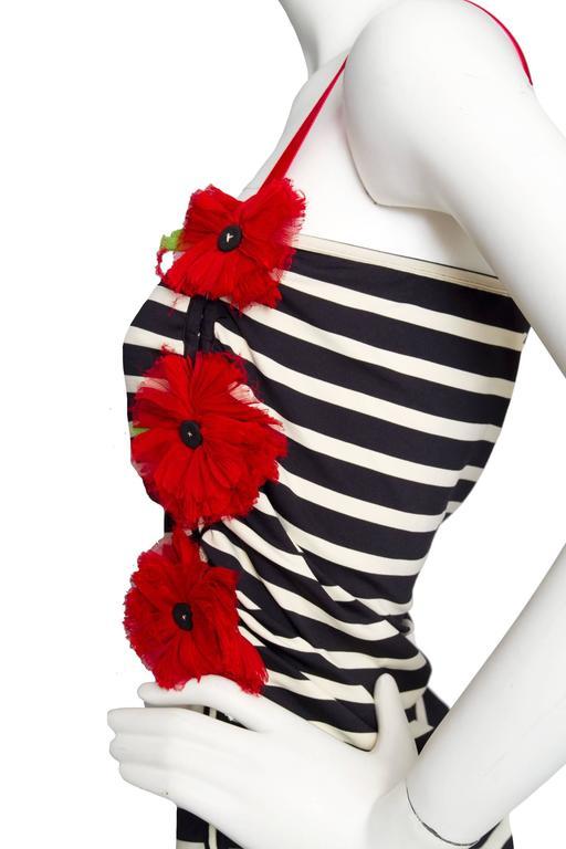 1990s Jean Paul Gaultier Sailor Stripe Dress For Sale At