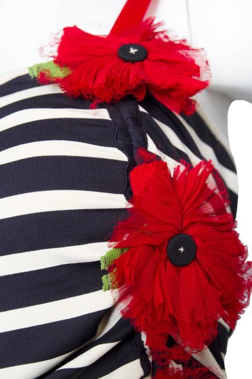 1990s Jean Paul Gaultier Sailor Stripe Dress   5